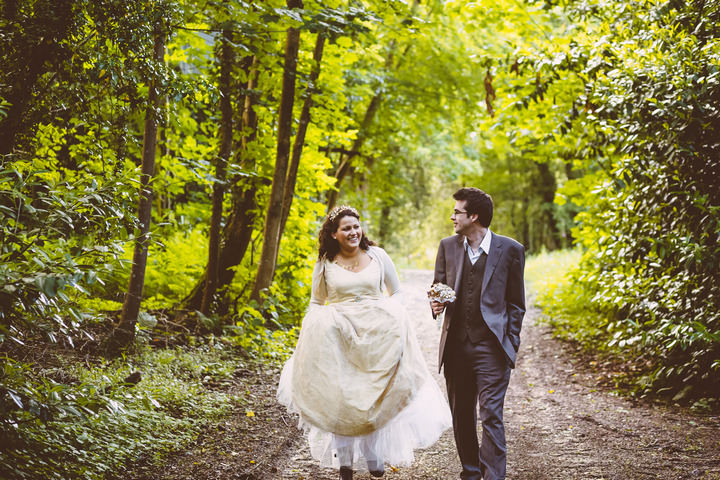 31-Handmade-Wedding-in-The-Woods-Complete-with-Ferret-Racing